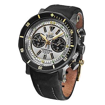 Vostok europe lunokhod 2 Quartz Analog Man Watch with Cowhide Bracelet 6S21-620E277