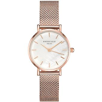 Rosefield small edit Quartz Analog Women's Watch with 26WR-265 Gold Plated Stainless Steel Bracelet