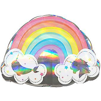 Anagramm magische Regenbogen holographische Supershape Folie Ballon
