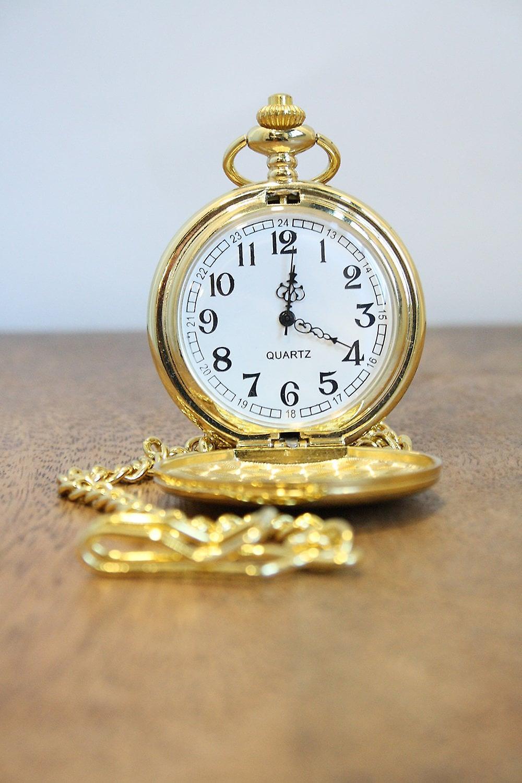 Woven Gold Pocket Watch