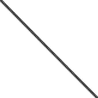 Edelstahl Fancy Hummer Verschluss poliert schwarz Ip vergoldet 2,25 mm Runde Bordstein Kette Halskette Schmuck Geschenke für Frauen