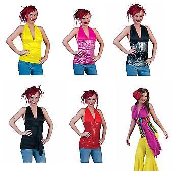 Halter shirt geel variabele vrouwen kostuum top blouse kostuum dames Sweet