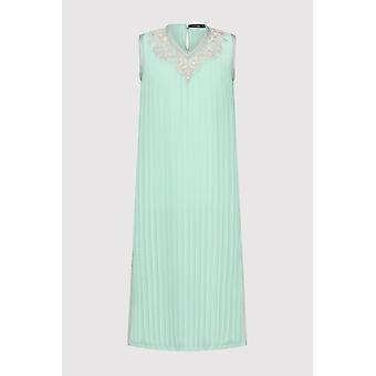 Kaftan naghma girl's sleeveless v-neck ribbed long dress in mint green (2-12yrs)