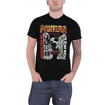 Pantera T Shirt 3 Albums Montage Band Logo new Official Mens Black