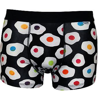 Happy Socks Sunny Side Up Boxer Trunk, Black/multi