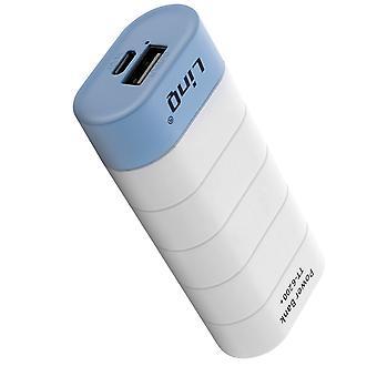 Universele back-up batterijlader externe USB 1A 6000mAh LinQ wit en blauw