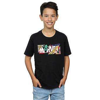 Marvel Boys Collage Logo T-Shirt