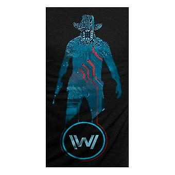 Westworld Adults Unisex Blue Man Design T-Shirt
