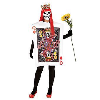 Aikuisten Skull Queen-kortti fancy mekko puku koko 14 jotta 16