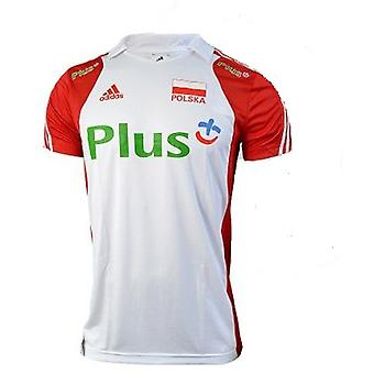 Adidas Volleyball Poland Polo M E86465 volleyball all year men t-shirt