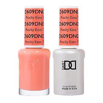 Dnd Duo Gel & Nail Polish Set - Peachy Keen 609 - 2x15ml