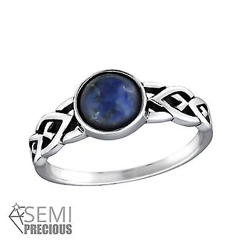 Sodalite - 925 Sterling Silver Cubic Zirconia Rings - W30668X
