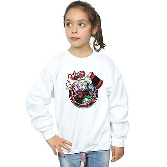 DC Comics meisjes Harley Quinn Joker patch Sweatshirt