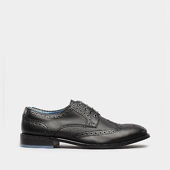 Oswin Hyde Carter Mens Leather Brogues Shoes Black