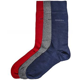 BOSS Cotton-Rich Socks Three Pack
