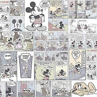 Galerie Wallcoverings Galerie Official Disney Mickey Minnie Donald Duck Comic Cartoon Childrens Wallpaper DY3011-2