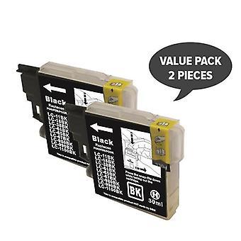 2 x LC38 LC67 zwart-compatibele inkjetcartridge