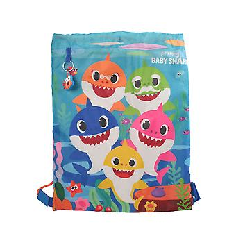 Sac de sport Baby Shark Drawstring School Pe Gym Trainer 40cm x 30cm