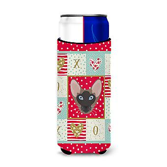 Oriental Bicolor Cat Michelob Ultra Hugger for slim cans
