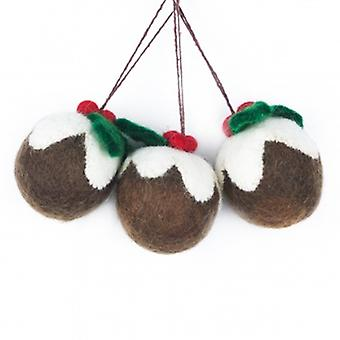 Felt So Good Hanging Puddings Decorations | Gifts From Handpicked
