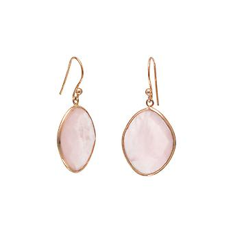 Rose 14k Gold Plated 925 Sterling Silver French Wire Earrings Faceted Rose Quartz Jewelry Gifts for Women