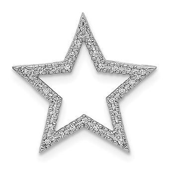 14k valkoinen kulta pieni timantti tähti ketjun dia riipus kaulakoru korut lahjat naisille - 0,09 dwt