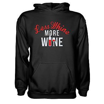 Herre Sweatshirts Hættetrøje- Mindre Klynker mere vin