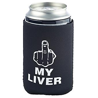 Funny Guy Mugs F My Liver Collapsible Neoprene Can, Black Can, Size One Size