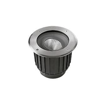Leds-C4 Gea - LED all'aperto incassato Terra Uplight Acciaio incolore polacco 12,5cm 995lm 2700K IP67 - 55-9906-CA-CK