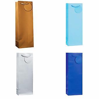 SE finishen enkelt farge flaske gaveposer (pakke med 6)