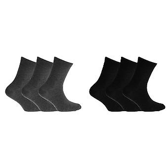 Childrens Boys Cotton Rich Socks With Elastane (Pack Of 3)