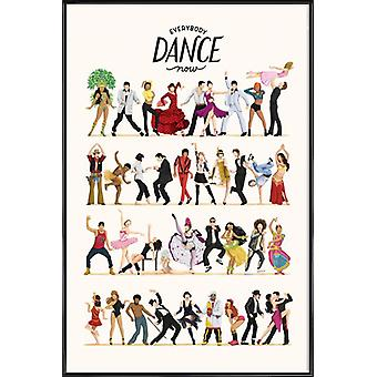 JUNIQE Print - Everybody Dance Now - Dancing Poster in Colorful