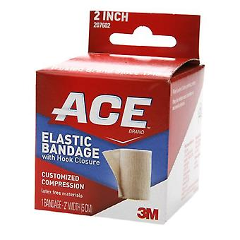 3M ace brand elastic bandage with hook closure, 2 inch, 1 ea