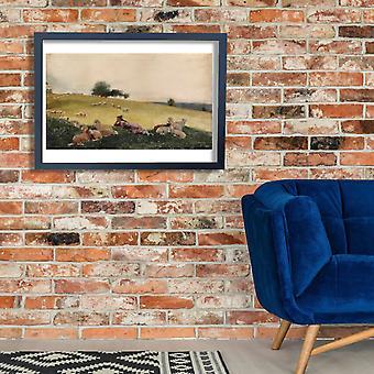Winslow Homer - Shepherdess of Houghton Farm Poster Print Giclee