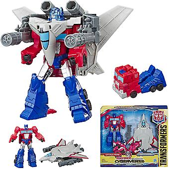 Transformers 2 in 1 Cyberverse Spark Armor Optimus Prime Action Figure