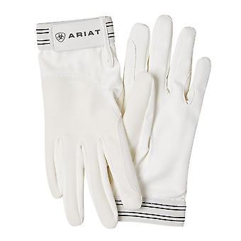 Ariat Ladies Non-insulated Tek Grip Riding Gloves - White
