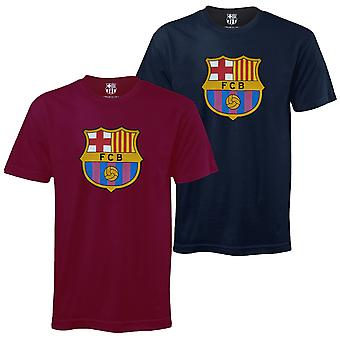 FC Barcelona Mens T-Shirt Crest OFFICIAL Football Gift