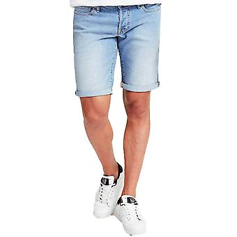 Guess Mens Slim Fit Jean Denim Shorts  Light Blue M02D01D3Y93