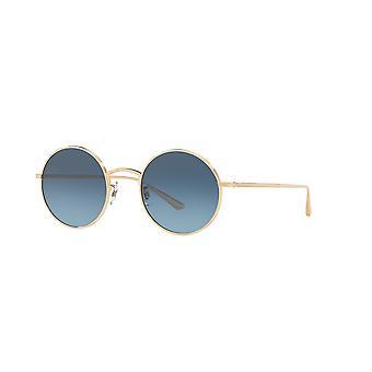 Oliver Peoples Depois da Meia-Noite OV1197ST 5035/Q8 Ouro/Marine Gradiente Óculos