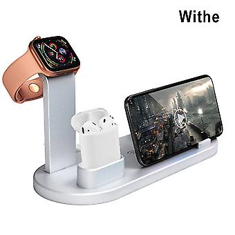 4 in 1 10w wireless charger multi-function usb charger charging docking station