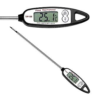 Digital frying thermometer / grill thermometer Black/Silver