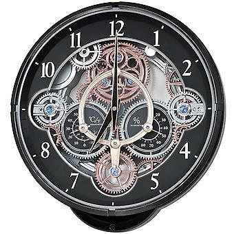 Rhythm 7886/7 Wall Clock Quartz analog thermometer hygrometer with melodies
