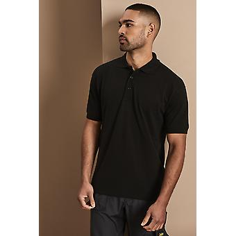 UNEEK Uneek Unisex 100% Cotton Polo Shirt, Black