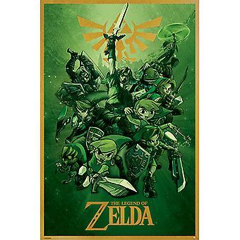 Zelda Linkki Fighting Maxi Juliste