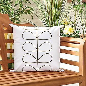 Gardenista Garden Outdoor Scatter Kussen | Patio Rattan Stoelen Foam gevuld meubilair patroon kussen | Waterbestendig | Hypoallergeen schuimkruimel gevuld (Lijnen Apple)