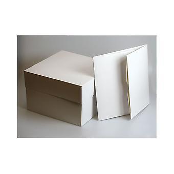 """Culpitt hvid kage kasser-16 """"(406 X 152mm sq.) Pakke med 50"""