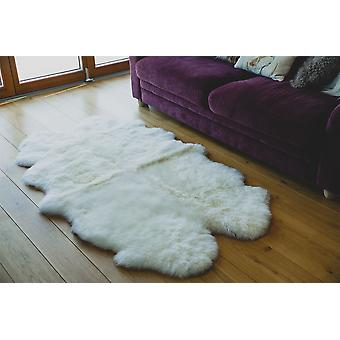 Nordvek Premium Luxury Natural Sheepskin Quad Rug - Quad Pelt - Grade A # 601-100