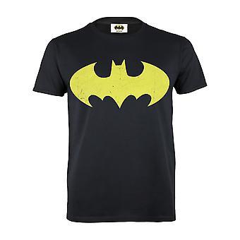 DC Comics Batman Ylimitoitettu Keltainen Logo Miehet&s T-paita | Viralliset tuotteet