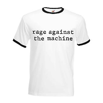Rage Against The Machine T Shirt Wrecking Ball new Official Mens White Ringer