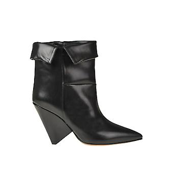 Isabel Marant Ezgl287033 Women's Black Leather Ankle Boots